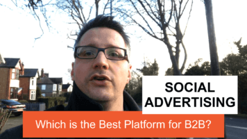 Which Social Advertising platform is best for B2B?